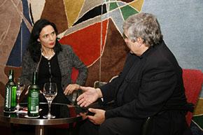 Tilgner im Gespräch mit Marlis Prinzing